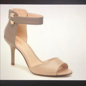 Nine West Graby Peep Toe Leather Heels